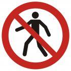 Zakaz przejścia - znak bhp zakazujący - GAP004