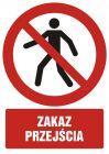 Zakaz przejścia - znak bhp zakazujący - GC006