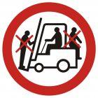 Zakaz przewozu osób na urządzeniach transportowych 1 - znak bhp zakazujący - GB002