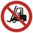 Zakaz ruchu urządzeń do transportu poziomego - znak bhp zakazujący - GAP006