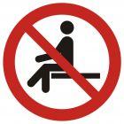 Zakaz siadania - znak bhp zakazujący - GAP018