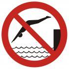 Zakaz skakania do wody - znak bhp zakazujący - GB015