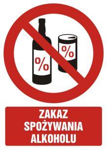 Zakaz spożywania alkoholu - znak bhp zakazujący - GC049