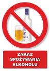 Zakaz spożywania alkoholu - znak informacyjny - PC106