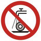 Zakaz szlifowania na mokro - znak bhp zakazujący - GAP033