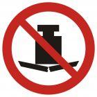 Zakaz umieszczania ciężkich przedmiotów - znak bhp zakazujący - GAP012