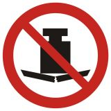 Zakaz umieszczania ciężkich przedmiotów - znak bhp zakazujący - GAP012 - Znaki BHP w miejscu pracy (norma PN-93/N-01256/03)