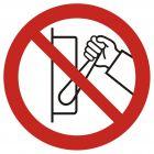 Zakaz uruchamiania maszyny (urządzenia) - znak bhp zakazujący - GB041