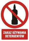 Zakaz używania detergentów - znak bhp zakazujący - GC066