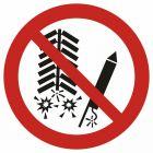 Zakaz używania fajerwerków - znak bhp zakazujący - GAP040