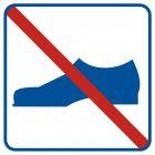 Zakaz używania obuwia - znak informacyjny - RA506