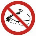 Zakaz używania okularów interaktywnych - znak bhp zakazujący - GAP044