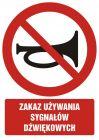Zakaz używania sygnałów dźwiękowych - znak bhp zakazujący - GC031