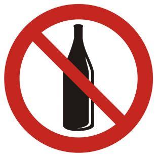 Zakaz używania szkła - znak bhp zakazujący - GB027