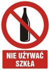 Zakaz używania szkła - znak bhp zakazujący - GC052
