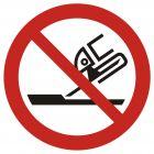 Zakaz używania szlifierki - znak bhp zakazujący - GAP032
