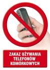 Zakaz używania telefonów komórkowych - znak informacyjny - PC502