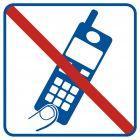 Zakaz używania telefonów komórkowych - znak informacyjny - RA510