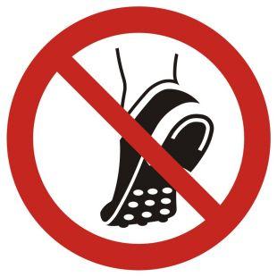 Zakaz wchodzenia w obuwiu z metalowa podeszwą - znak bhp zakazujący - GAP035