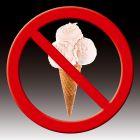 Zakaz wchodzenia z lodami - znak informacyjny - PC604