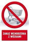 Zakaz wchodzenia z wózkami - znak informacyjny - PC109