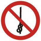 Zakaz wiązania węzłów - znak bhp zakazujący - GAP030