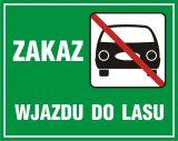 Zakaz wjazdu do lasu - znak, lasy - OB016 - Oznakowanie dróg leśnych niedostępnych dla ruchu