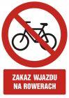 Zakaz wjazdu na rowerach - znak bhp zakazujący - GC039
