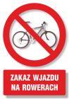 Zakaz wjazdu na rowerach - znak informacyjny - PC107