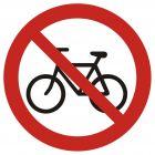 Zakaz wjazdu na rowerze - znak bhp zakazujący - GB014