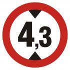 Zakaz wjazdu pojazdów o wysokości ponad ... m - znak PCV, naklejka - SA007