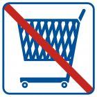 Zakaz wjazdu z wózkami - znak informacyjny - RA518