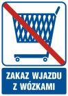 Zakaz wjazdu z wózkami - znak informacyjny - RB509