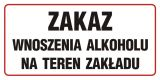 Zakaz wnoszenia alkoholu na teren zakładu - znak zakazujący - NE013 - Zakaz spożywania alkoholu – jak poprawnie oznakować sklep i inne obiekty?