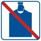 Zakaz wnoszenia podręcznego bagażu - znak informacyjny - RA514