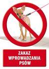 Zakaz wprowadzania psów - znak informacyjny - PC402