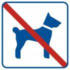 Zakaz wprowadzania psów - znak informacyjny - RA507