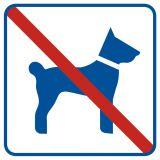 Zakaz wprowadzania psów - znak informacyjny - RA507 - Regulamin placu zabaw