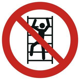 Zakaz wspinania się - znak bhp zakazujący - GAP009