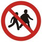 Zakaz wstępu dzieciom - znak bhp zakazujący - GAP036