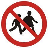 Zakaz wstępu dzieciom - znak bhp zakazujący - GAP036 - Znaki bezpieczeństwa i zdrowia – dyrektywa 92/58/EWG