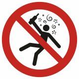 Zakaz wstępu osobom nietrzeźwym - znak bhp zakazujący - GAP043 - Zakaz spożywania alkoholu – jak poprawnie oznakować sklep i inne obiekty?