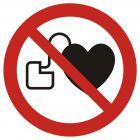 Zakaz wstępu osobom ze stymulatorem serca - znak bhp zakazujący - GAP007
