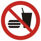 Zakaz wstępu z jedzeniem i piciem - znak bhp zakazujący - GAP022