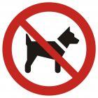 Zakaz wstępu ze zwierzętami - znak bhp zakazujący - GAP021
