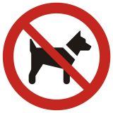 Zakaz wstępu ze zwierzętami - znak bhp zakazujący - GAP021 - Znaki bezpieczeństwa i zdrowia – dyrektywa 92/58/EWG