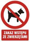 Zakaz wstępu ze zwierzętami - znak bhp zakazujący - GC012