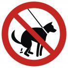 Zakaz wyprowadzania psów 1 - znak informacyjny - PA020