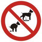 Zakaz wyprowadzania psów 2 - znak informacyjny - PA021