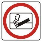 Zakaz wyrzucania  niedopałków za okno - znak, naklejka kolejowa - SD003